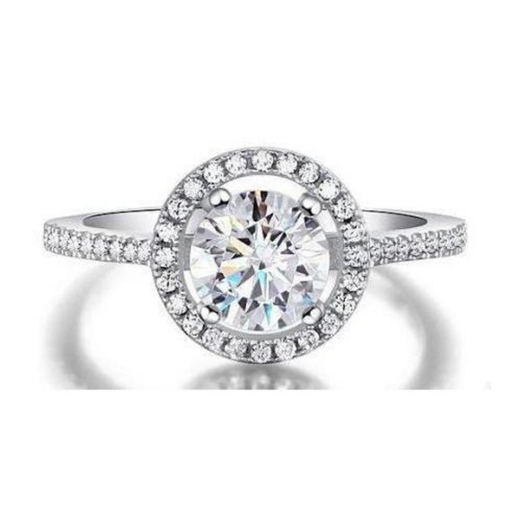 Jewelry - CVD sparkling diamonds Engagement ring 2.00 Carats